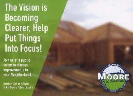 Moore, Oklahoma 2013 Recovery Logo on Postcard