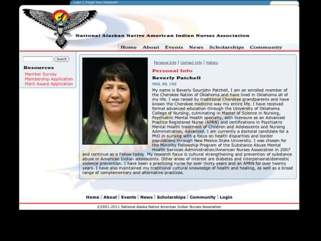 NANAINA - National Alaskan Native American Indian Nurses Association - Staff Bio Page