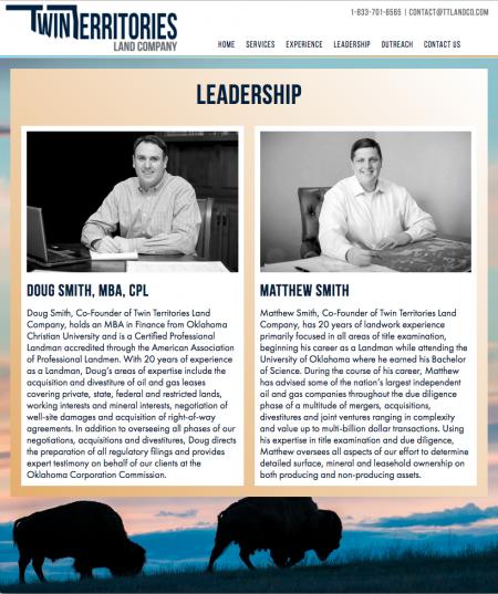 Twin Territories Land Company - Leadership